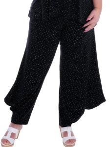 Hose Christelle Punkte schwarz-weiss XL