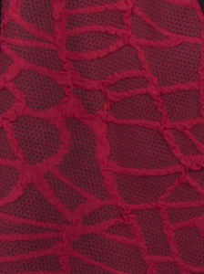 Shirt Hedia rubinrot-schwarz S