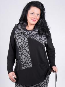 Shirt Hedia schwarz-weiss XL