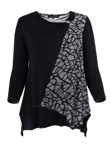 Shirt Valerie schwarz-weiss L