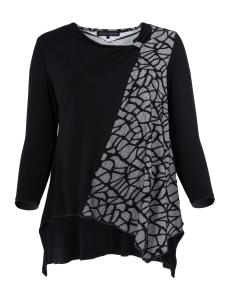 Shirt Valerie schwarz-weiss XL