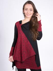 Shirt Valerie rubinrot-schwarz M