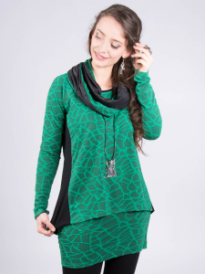 Shirt Raglay jadegrün-schwarz 3XL