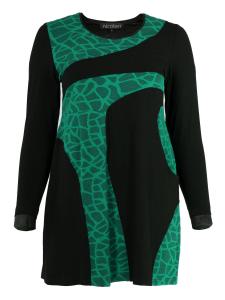 Kleid Ashlin schwarz-jadegrün L
