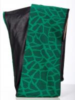 Rollschal Netzoptik jadegrün-schwarz