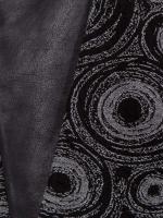 Rollschal Jacquard Kreise schwarz-grau