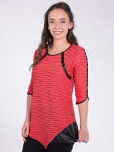 Shirt Amber korall-schwarz Ausbrenner L