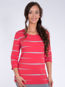 Shirt Basic tigris-koralle-grau M
