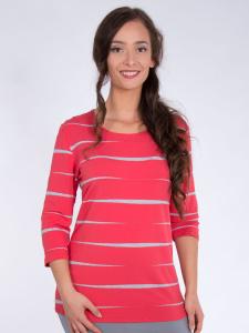 Shirt Basic tigris-koralle-grau L