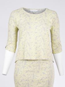 Shirtbluse Brenda Paisley grau-vanilla L