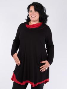 Tunika Ellie schwarz-rot M