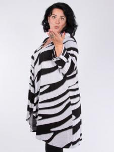 Cardigan Fiona schwarz-weiss XL