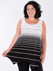 Tunika Skarlett Verlauf schwarz-weiss XL