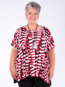 Bigshirt Mara rot-weiss-schwarz 2XL