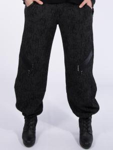 Hose Kadira Jacquard grau-schwarz L