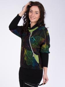 Longshirt Xarina schwarz-bunt-grün 2XL