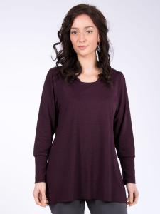 Shirt Tanja Kap. LA tinto-melange 2XL