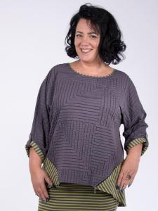 Shirt Leandra grau-olive 2XL