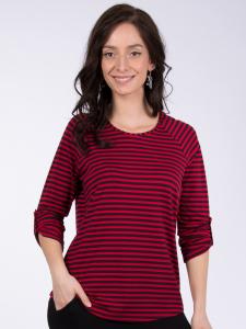 Shirt Mathea Streifen rot-tinto XL