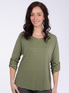 Shirt Mathea Streifen grau-olive L