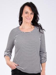 Shirt Mathea Streifen schwarz-weiss XL