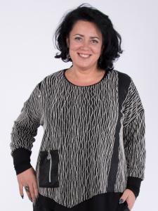 Pullover Tilda schwarz-weiss L