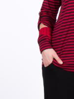 Wendestulpe Jacquard rot-tinto Streifen