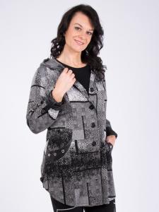 Jacke Lori Jacquard grau-schwarz S