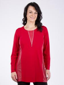 Shirt Betty Zipper rot XL