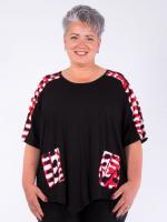 Shirt Liara schwarz-Print rot S