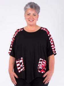 Shirt Liara schwarz-Print rot L