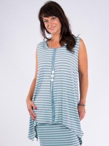 Tunika Elda Streifen mint-weiss 3XL