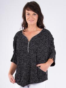Shirt Lovela schwarz-weiss Punkte 2XL