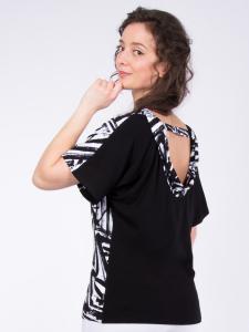 Shirt Rijana Print weiss-schwarz L