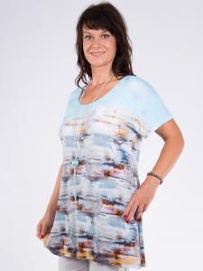 Shirt Manou Print türkis multicolor 2XL