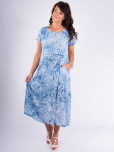 Kleid Karmena denim Batik/Druck kl. Feder M