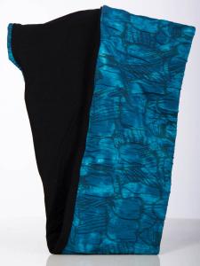 Rollschal Jacquard türkis-Batik