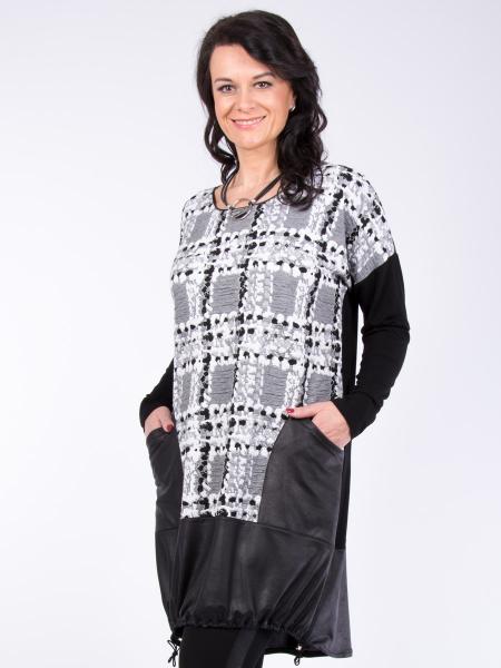 Kleid Andrey schwarz-weiss 2XL