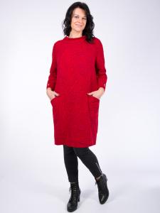 Kleid Charlize rot Jacquard XL