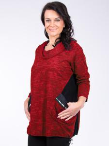 Shirt Corynna rot-schwarz 3XL