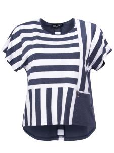 Shirt Zoe Streifen jeans-weiß 3XL