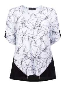 Shirt Serlina weiss-schwarz Scratch XL