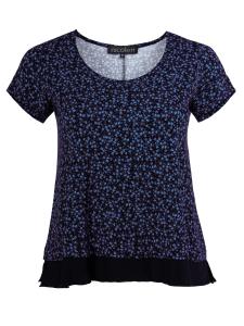 Shirt Charey Millefleurs blau-schwarz 3XL