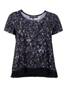 Shirt Charey Blume schwarz-weiss L