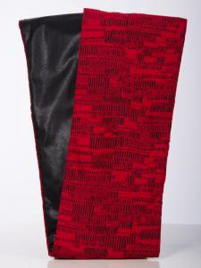 Rollschal Jacquard-Matrix rot-schwarz
