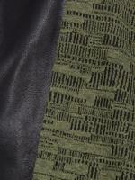 Rollschal Jacquard-Matrix olive-schwarz