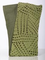 Rollschal Jacq.Kette kiwi-khaki