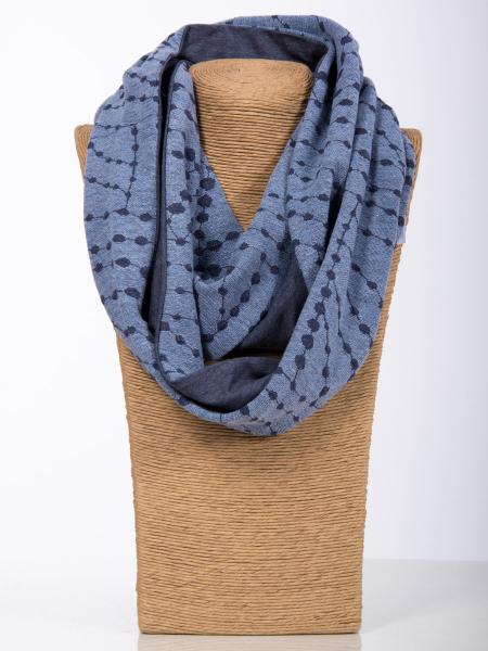 Rollschal Jacq.Kette blau-grau-jeans