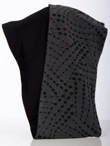 Rollschal Jacq.Kette grau-schwarz