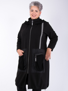Mantel Tarvos schwarz XL
